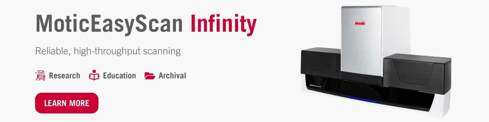 MoticEasyScan Infinity Banner
